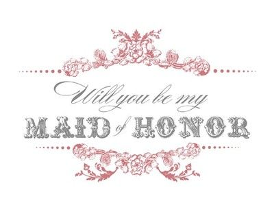 Free Printable Will You Be My Bridesmaid/Maid Of Honor Cards ...