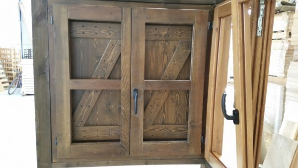 Ventana rustica con z sistema perfil europeo ventanas - Hacer una ventana de madera ...