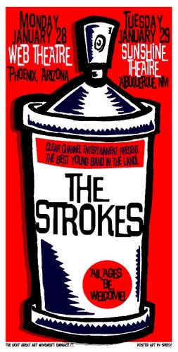 The Strokes Concert Poster Speed Sold Out Concert Posters The Strokes Gig Posters
