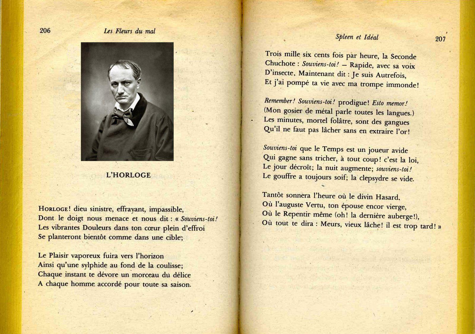 Charles Baudelaire L Horloge 1857 Baudelaire Tromperie Horloge