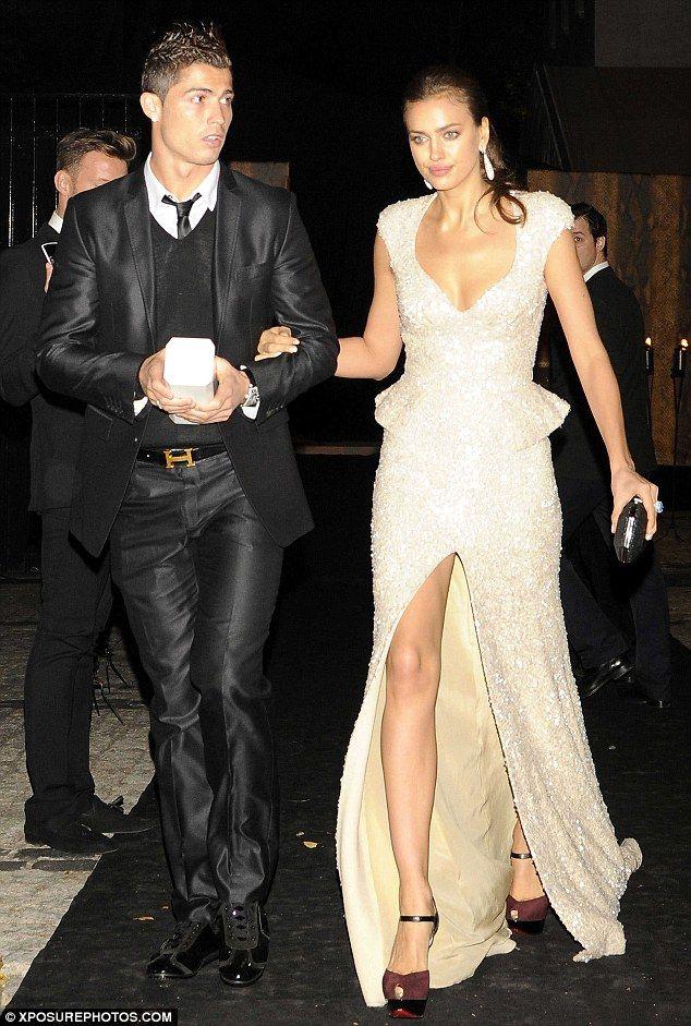 ef293abba764 In love  Irina is the girlfriend of Real Madrid footballer Cristiano Ronaldo