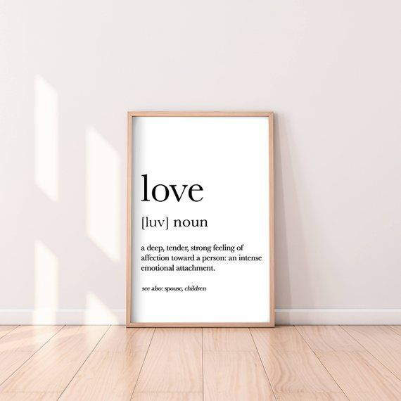 Love Print, Love Definition Poster, Love Dictionary Print, Love Quote, Quote Print, Love Wall Art, Love Printable, Love Meaning, Teen Print