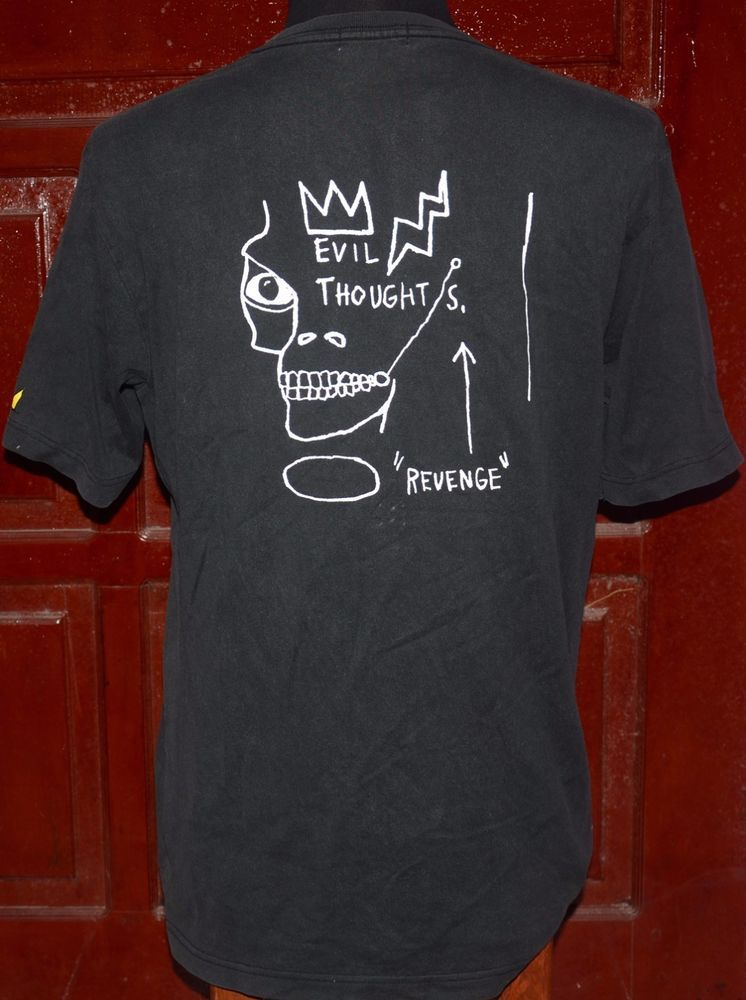 b2cf81bc84f Vintage 90 s Jean-Michel Basquiat Evil Thought T-Shirt Warhol Haring Pop  Art  UNIQLO  GraphicTShirt
