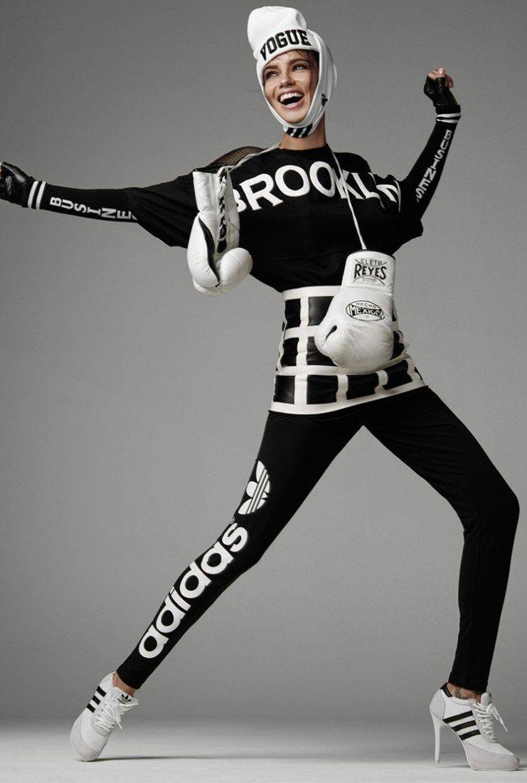Adriana Lima Vogue Italia Adidas 1 Moda Deportiva Para Mujer Elegancia Deportiva Steven Meisel