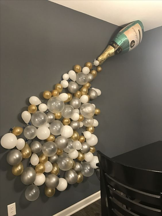 How to plan a fabulous bachelorette party let 39 s party for Champagne balloon wall