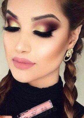 Brown Cut Crease Wedding Makeup