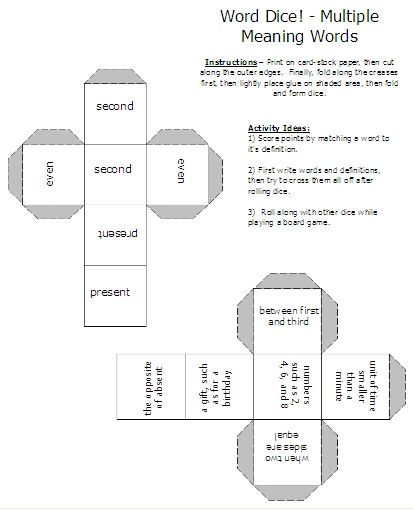 Free Multiple Meaning Worksheets Multiple Meaning Words