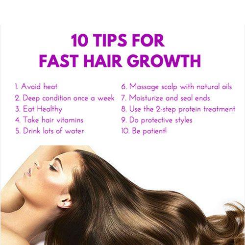 Tips For Fast Hair Growth Healthy Hair Tips Hair Growth Faster Hair Vitamins