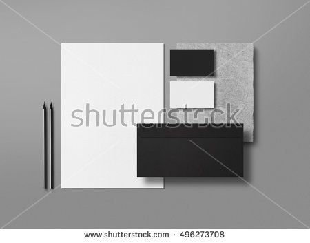 Mock up Template for branding identity Blank objects for placing - business envelope template