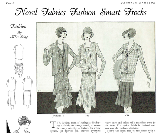 Vintage Sewing Magazine February 1929 Fashion Service Dressmaking Sewing Ebook Instant Download 1920s Perfect Fo Sewing Magazines Vintage Sewing Sewing Ebook