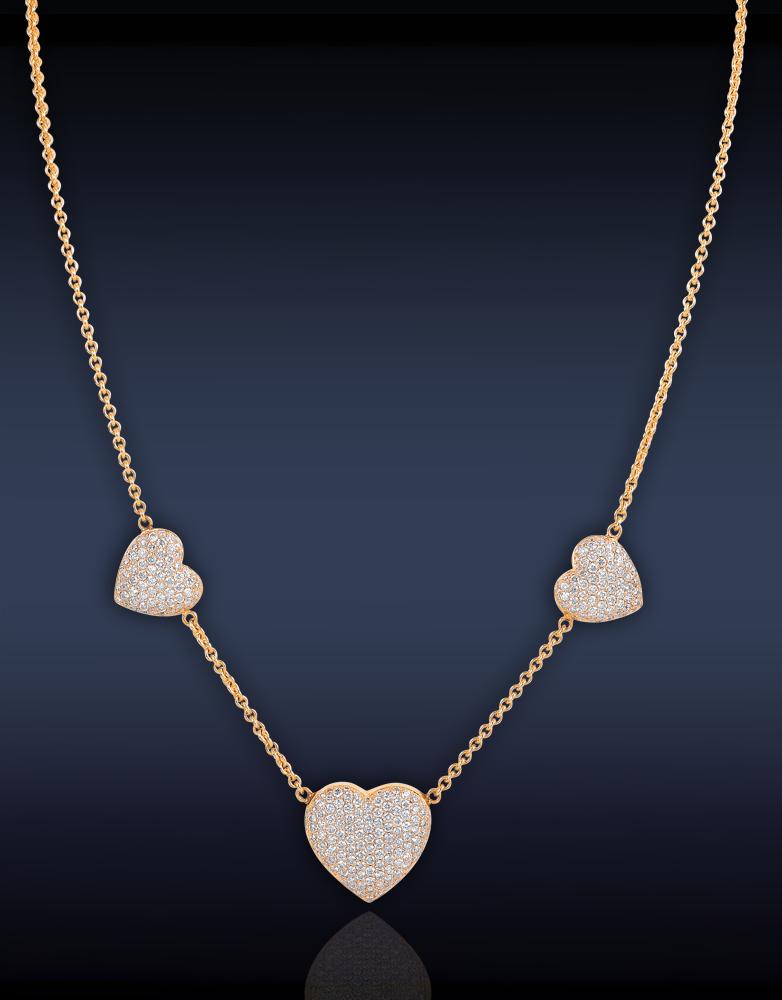 Trilogy Heart Necklace