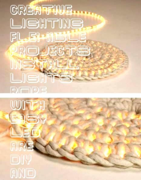DIY Projects with LED Rope Lighting LED rope lights are flexible easy  Creative DIY Projects with LED Rope Lighting LED rope lights are flexible easy to install and eyeCr...
