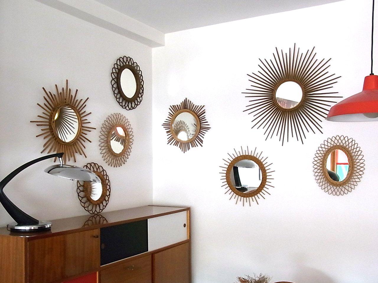 baos miroir en rotin dit soleil