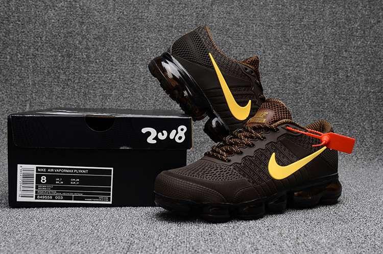 Nike Air Max 2018 Mens Shoes Brown Yellow
