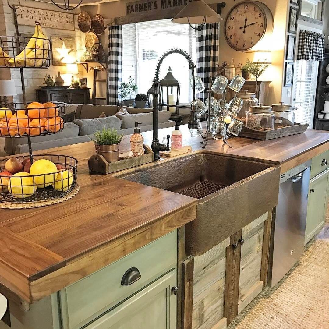 26 Farmhouse Kitchen Sink Ideas and Designs for 2018 #islanddecorating