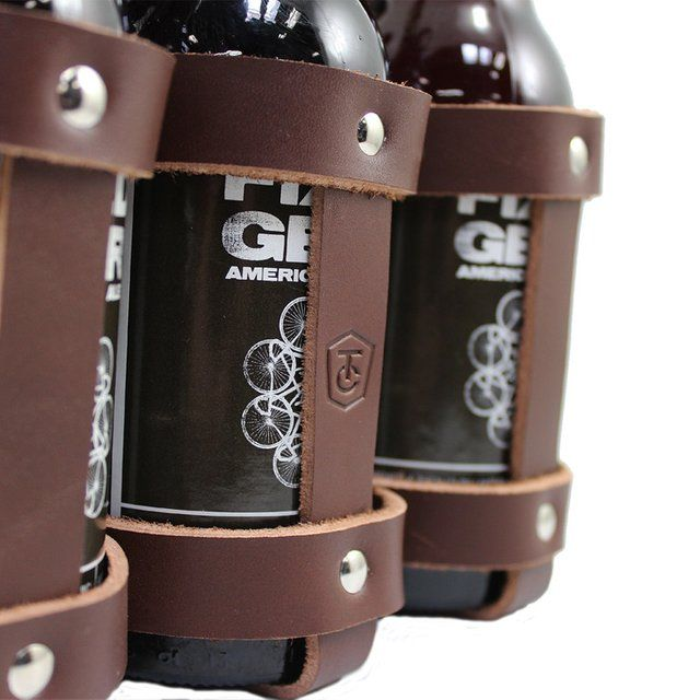 Leather six pack holder