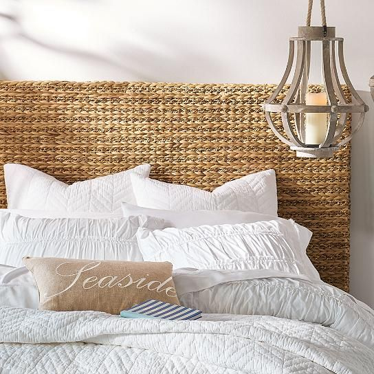 Braided Seagrass Headboard Twin In 2019 Seagrass