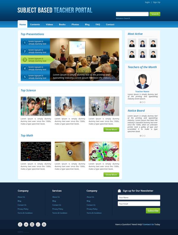 Teacher Portal by Jahidur Rahman, via Behance