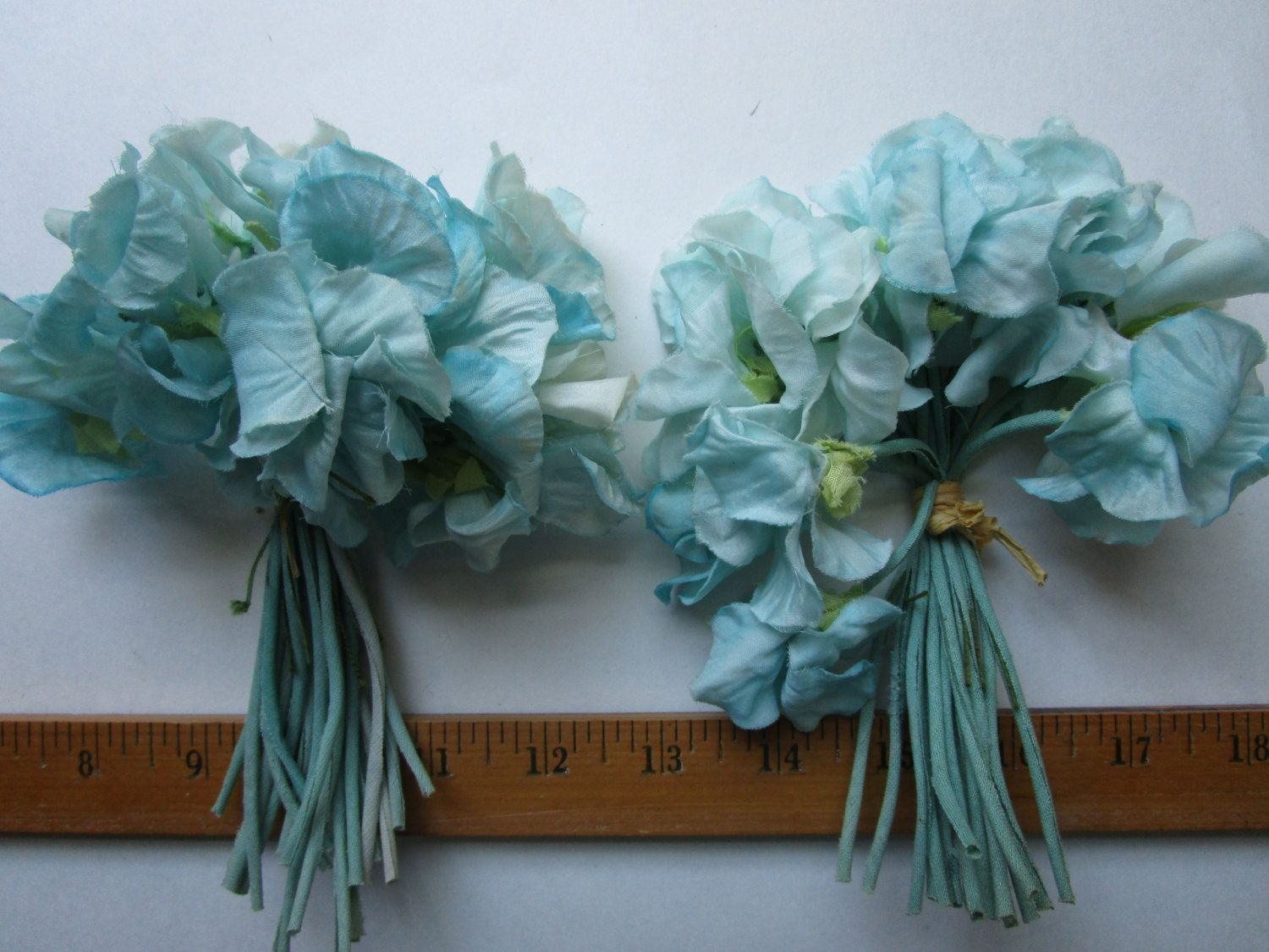 36 pale blue silk flowers ombre vintage 1950s millinery hat trims 36 pale blue silk flowers ombre vintage 1950s millinery hat trims by fabulousvintagehats on etsy izmirmasajfo
