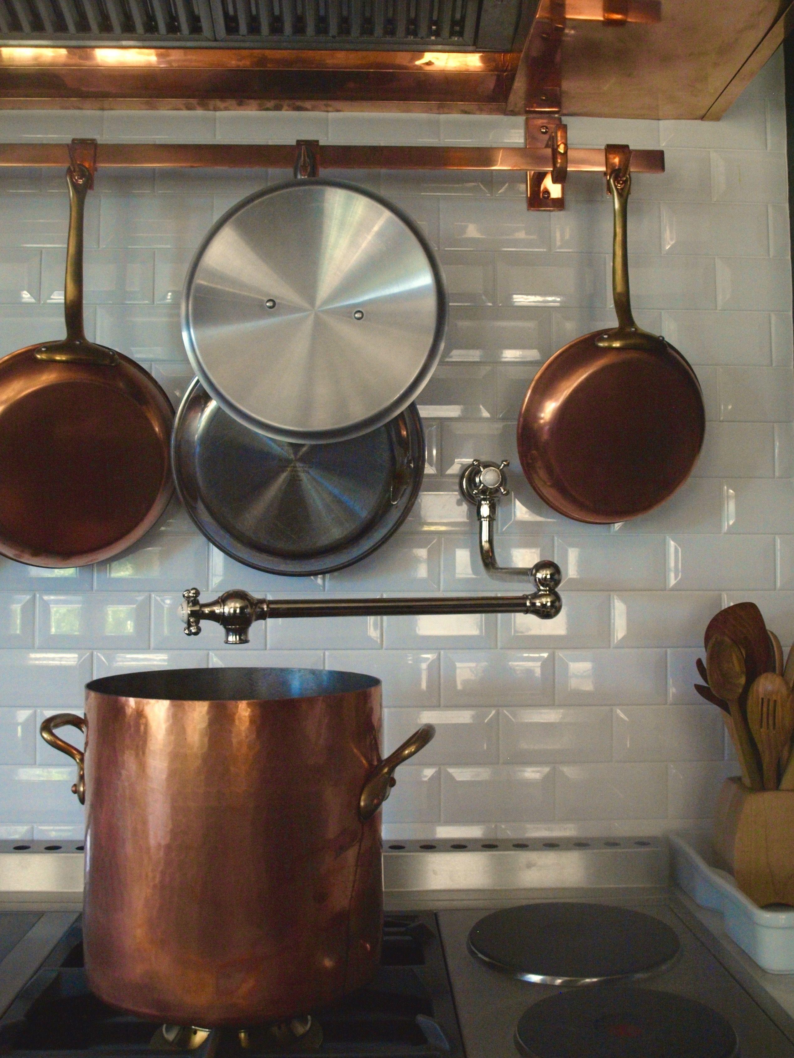 Mauviel Pots And Pans And A La Cornue Pot Rack