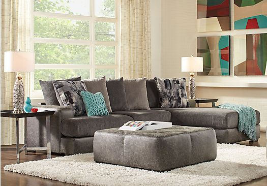 foster square graphite 3 pc sectional living room living room rh pinterest com