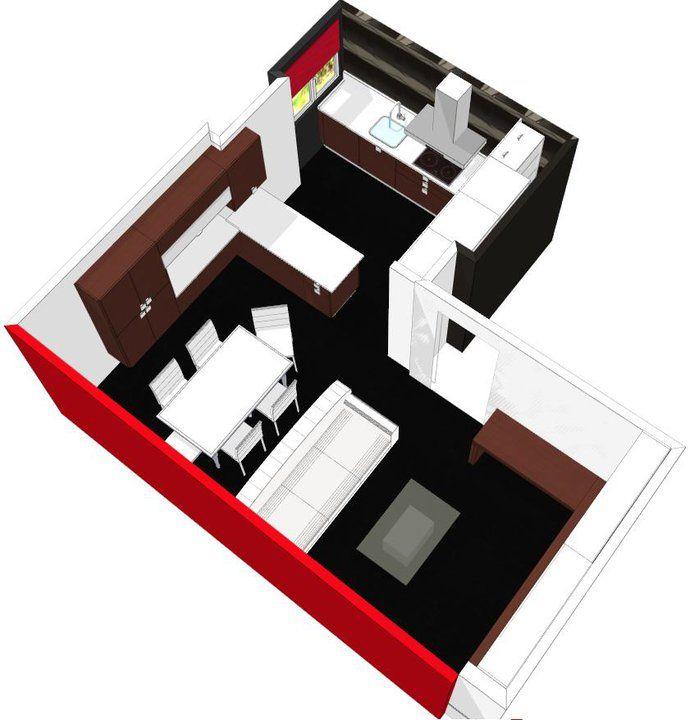 Decoracion moderno comedor cocina sala de estar for Cocina americana sala de estar idea