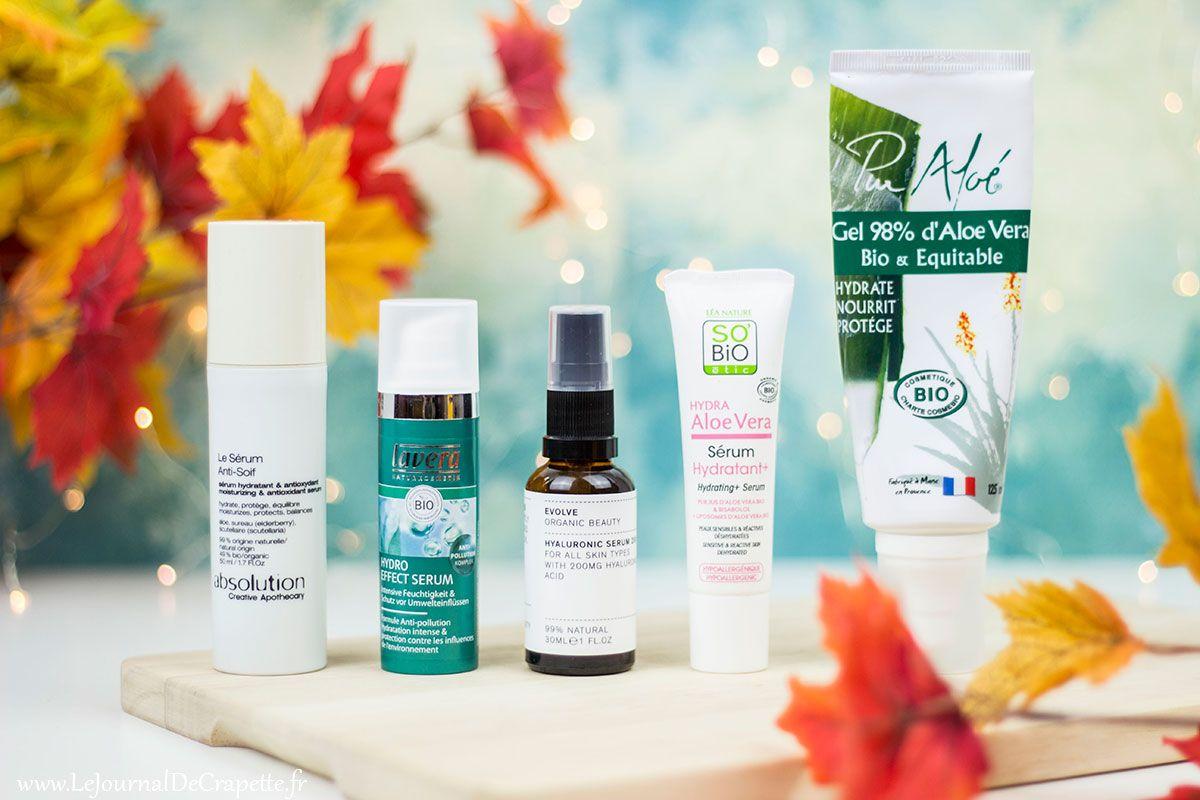 Top 5 des sérums antisoifs naturels pour les peaux