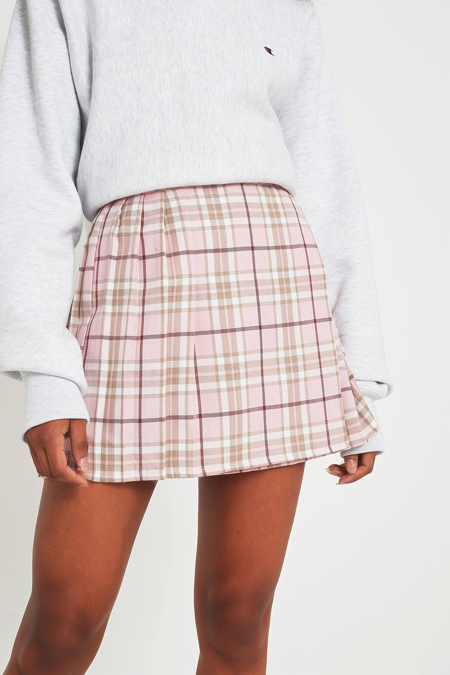 282da5267 Shop Urban Renewal Vintage Re-Made Pink Tartan Plaid Skirt at Urban  Outfitters today. We carry all the latest styles, colours and brands for  you to choose ...