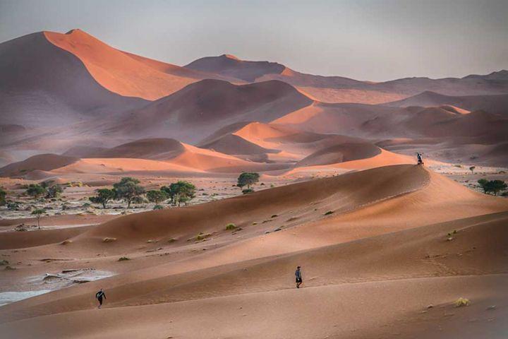 Sur le fil des dunes 2 #Namibie; Sossusvlei ;dunes #photo #photography #fliiby #images #yyazilim #people #nature