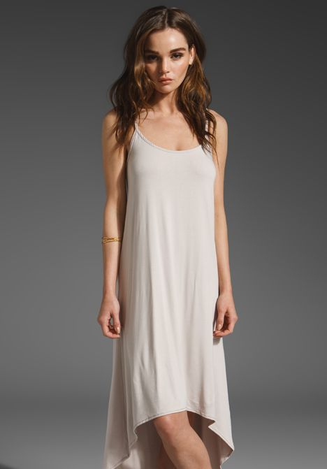 FLUXUS Viscose Dia Dress in Almond