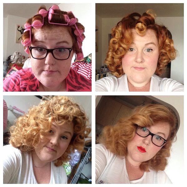 Vintage Hair Using Sponge Rollers And A Wet Set How To Curl Short Hair Vintage Hairstyles Hair Sponge