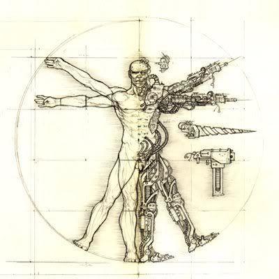 Resultat De Recherche D Images Pour Homme Vitruve Cyborg Warhammer Art Warhammer 40k Artwork Vitruvian Man Tattoo