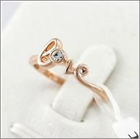 Promise Ring Champagne Gold Plated Love Word, USD15.99 Before Discount, FREE Shipping, FREE Returns