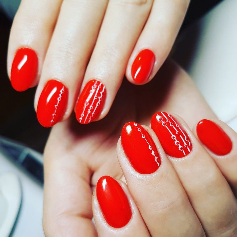 Czerwone Paznokcie Hybrydowe Paznokcie Pinterest Nails