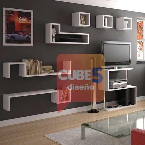 Repisa estante s flotante cubos colores a elecci - Repisas de pared ...
