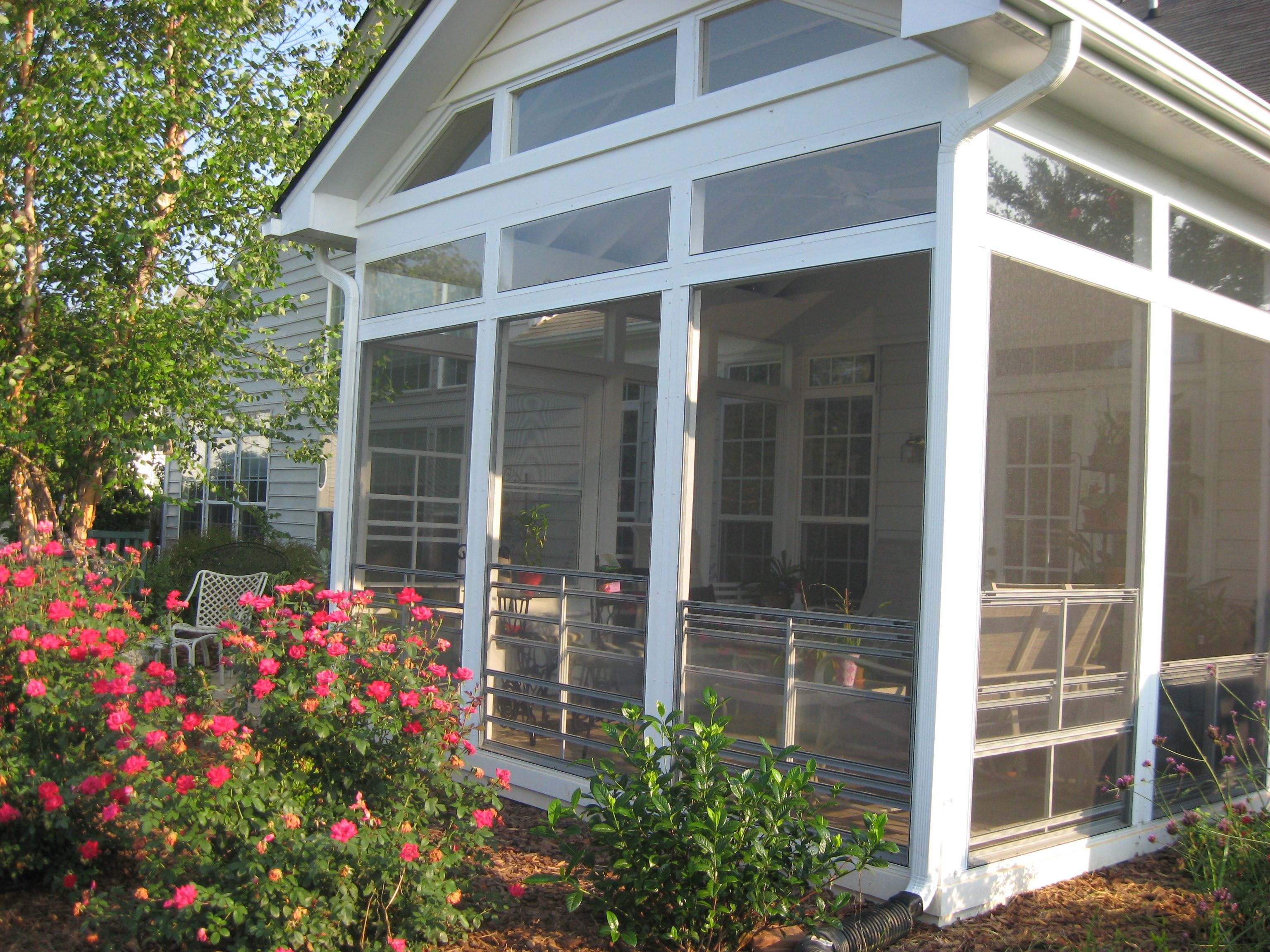 Winston Salem Screened Porch With Eze Breeze Windows   Design Ideas    Archadeck