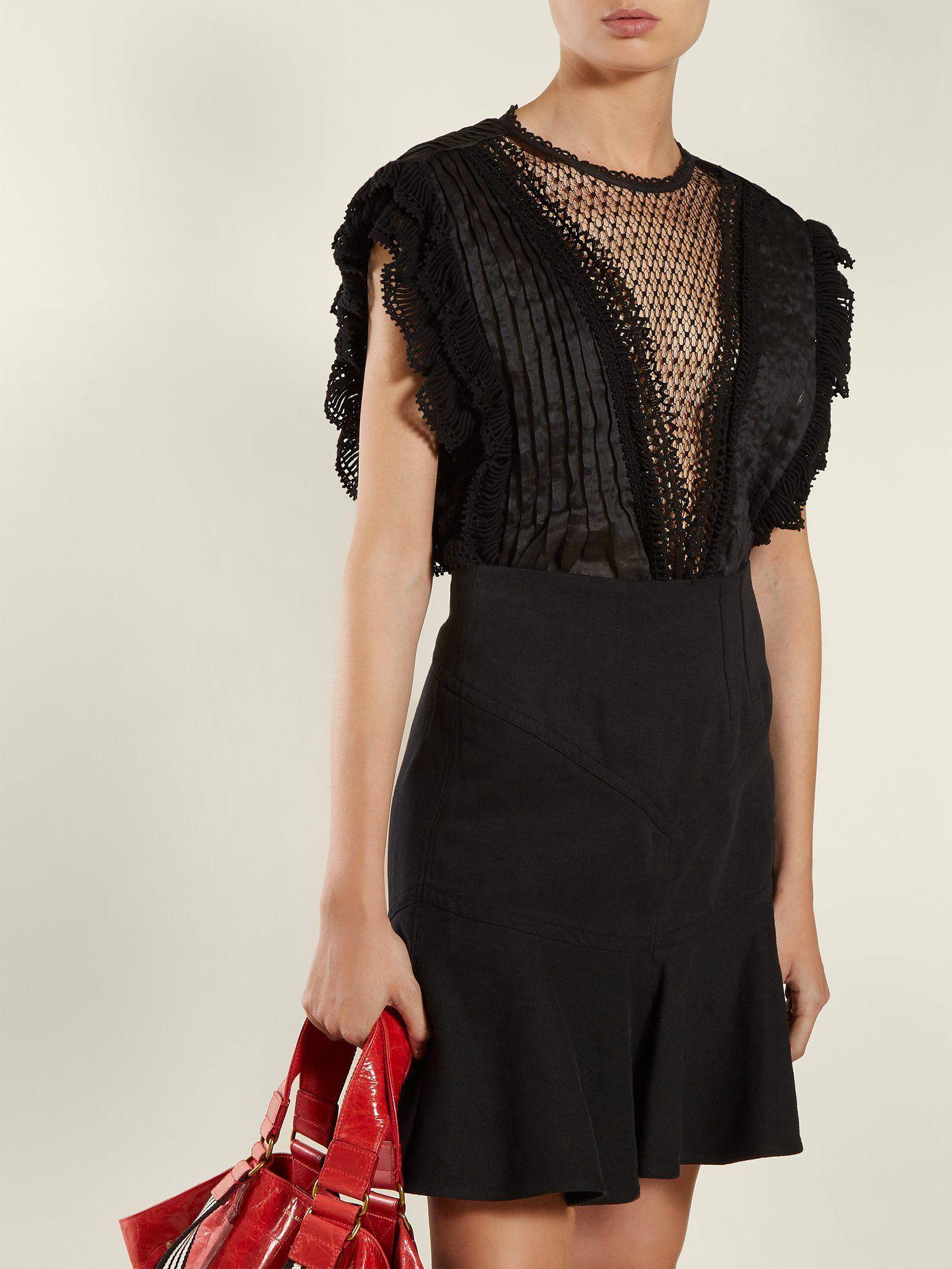 21e0c9d5eb Roya lace-insert voile blouse