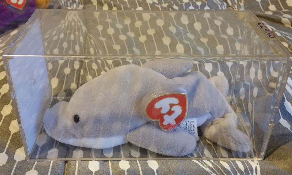 TY 3rd 1st Gen Flash The Dolphin Authenticated Beanie Baby Original 9 No  Reserve  Ty 66cd71edac8