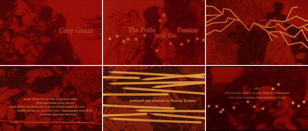 The Pride and the Passion (Stanley Kramer), 1956, title sequence