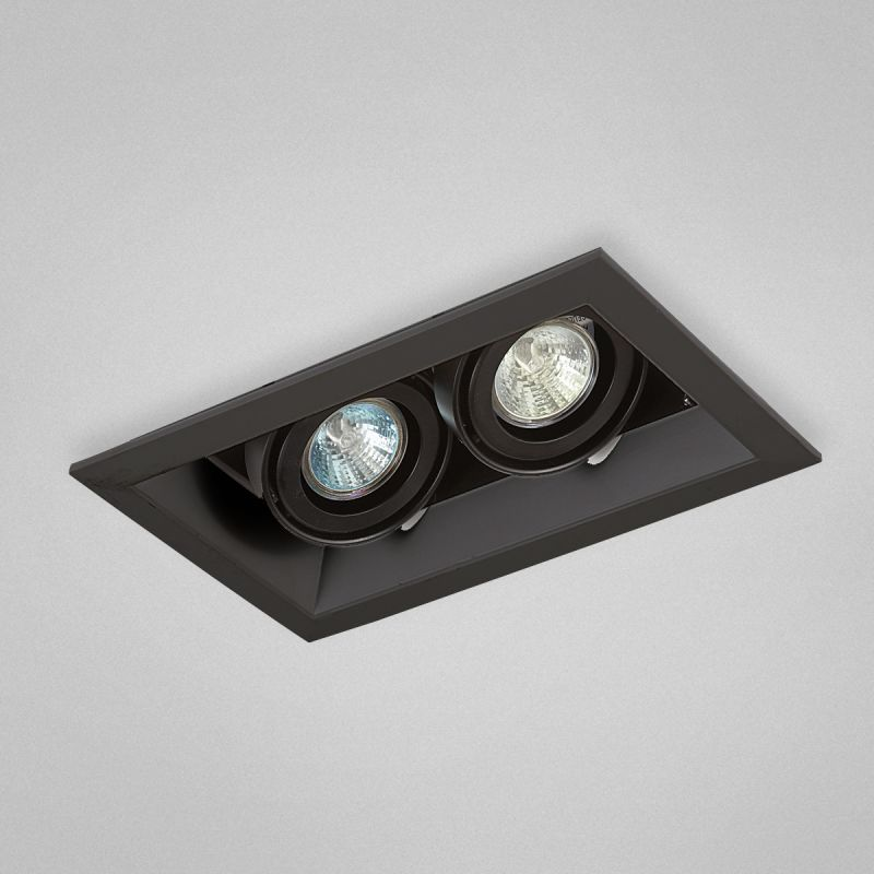 Eurofase Lighting Te112tr 01 Black 2 Light 10 1 2 Wide Adjustable Square Recessed Trim Integrated Transformer Included In 2020 Recessed Lighting Eurofase Lighting Led Pot Lights