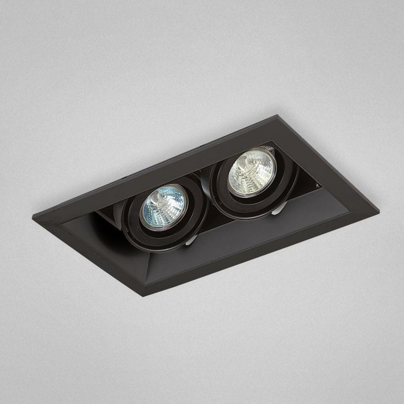 Eurofase Lighting Te112tr 01 Black 2 Light 10 1 2 Wide Adjustable Square Recessed Trim Integrated Transformer Included In 2020 Recessed Lighting Eurofase Lighting Led Pot Lights