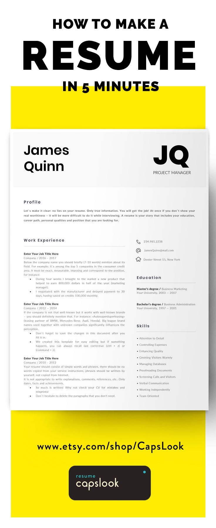Information Technology Resume Template, IT Resume Software