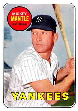 Topps Baseball Cards 1969 Topps Baseball Cards Free Checklist With Images Baseball Cards Mickey Mantle Baseball