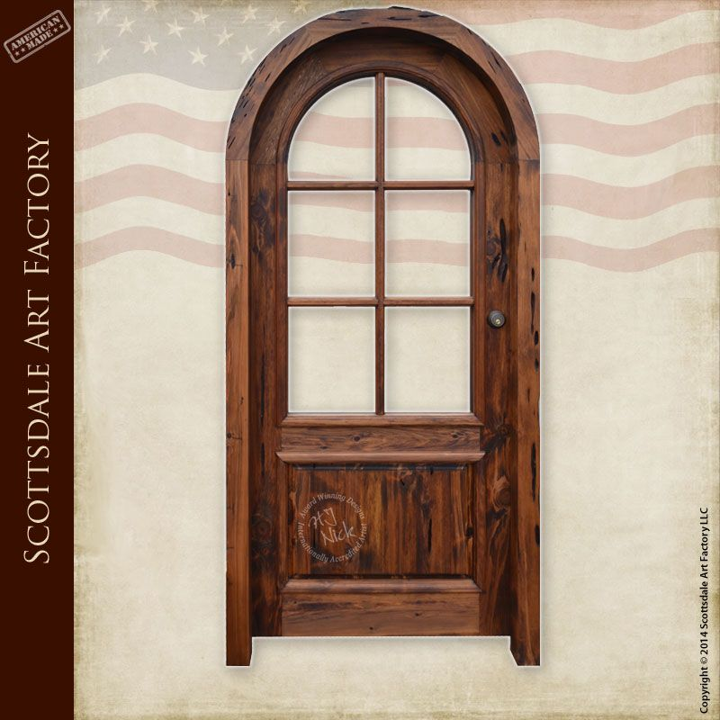 Arch top custom doors featuring 6 light french panel thermal order your custom doors from scottsdale art factory planetlyrics Image collections