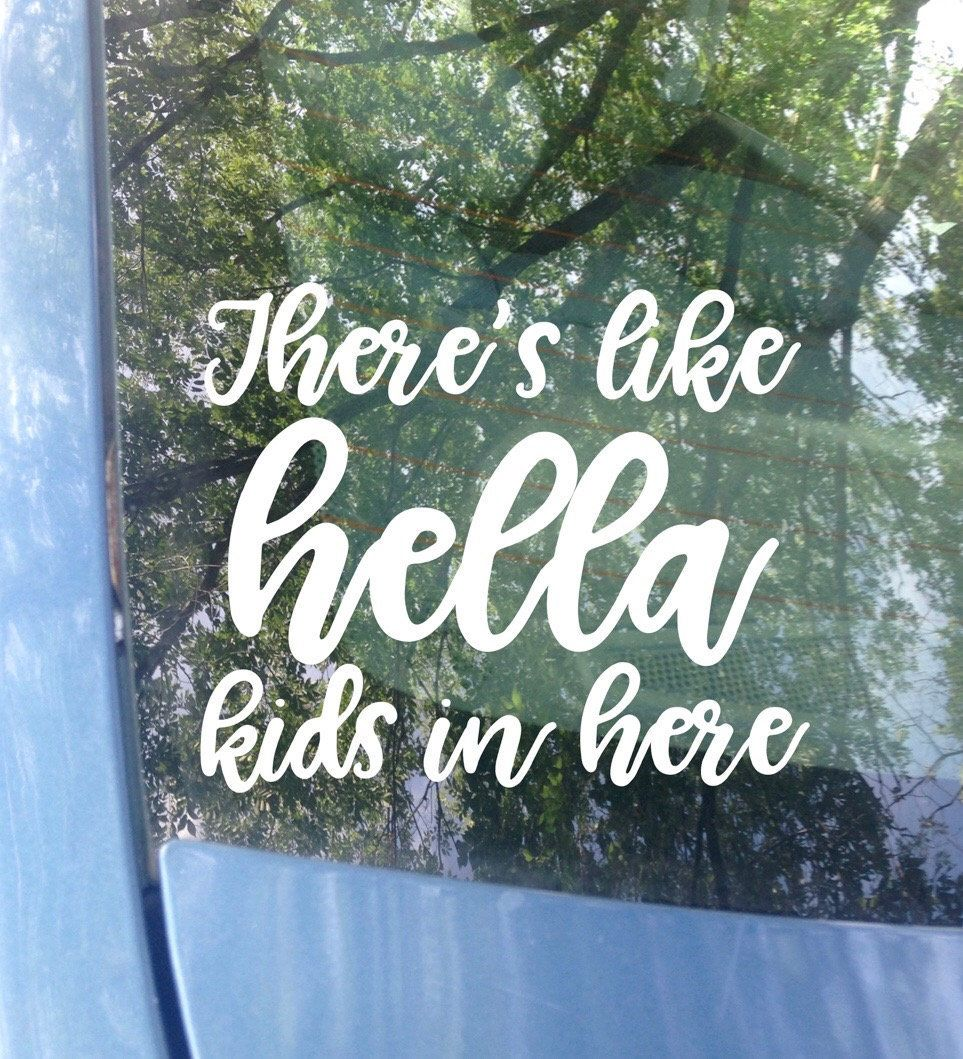 Color Options Blessed Family Bumper Sticker 6x4.5 ORIGINAL Kids on Board Car Decal