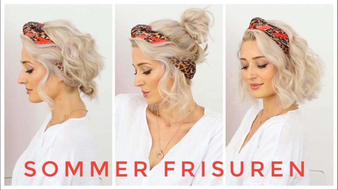 Sommer Frisuren Mit Einem Tuch Tragen Olesjaswelt Youtube Sommerfrisuren Haar Styling Frisuren