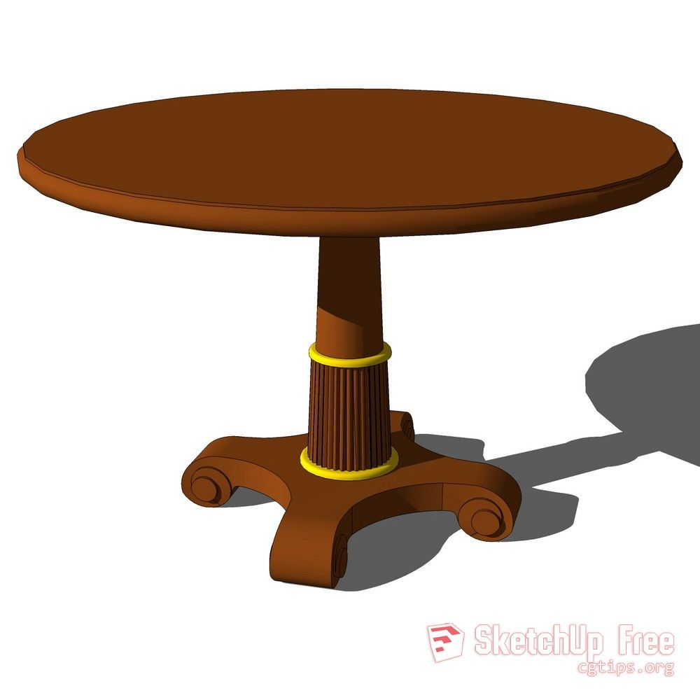 809 Round Table Sketchup Model Free Download   Sketchup ...