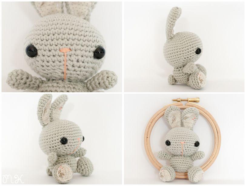 conejo amigurumi ganchillo spring bunnies | Miss Katiuska ...
