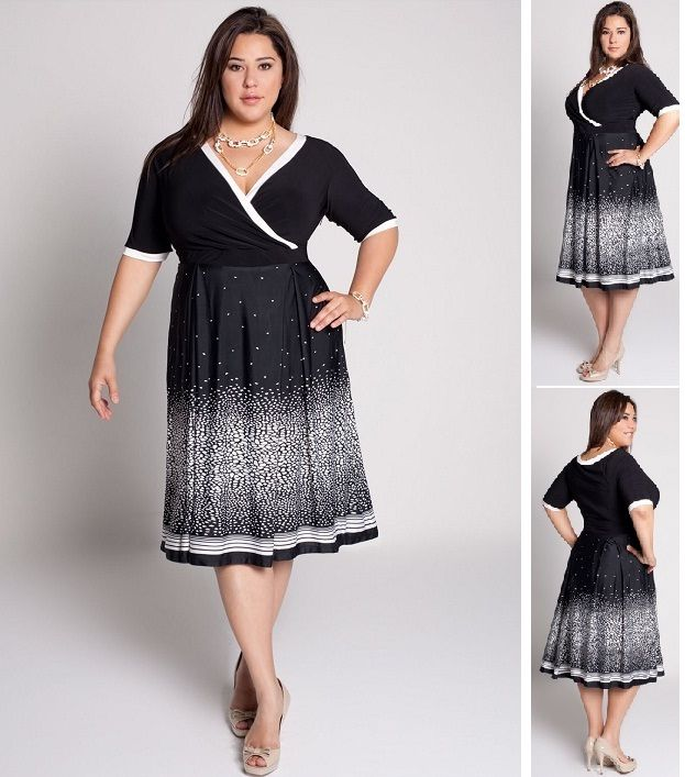 plus size dress with sleeves - I like this one for a wedding guest ...