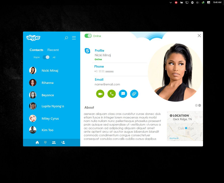 C# Rich UI programming- Skype concept prototype, Bunifu UI